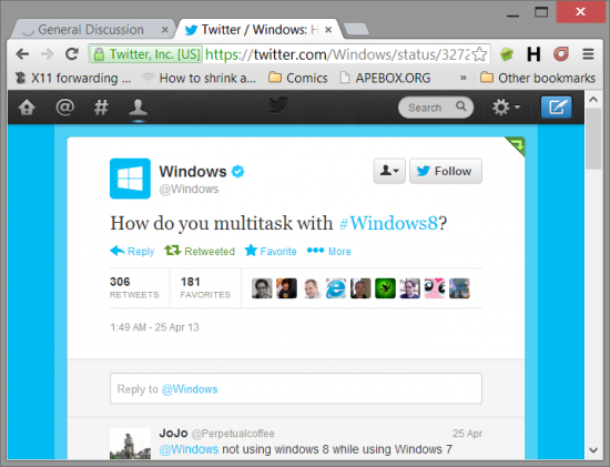 How do you multitask with #windows8?