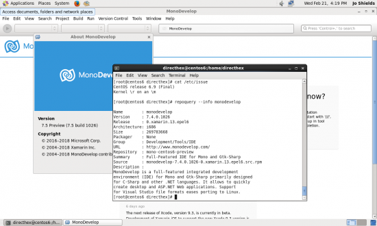 MonoDevelop 7.4.0.1026 on CentOS 6